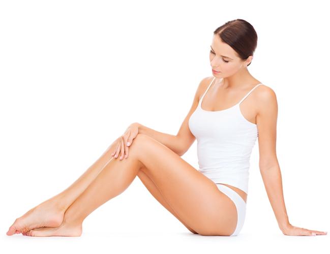 model posing showing legs