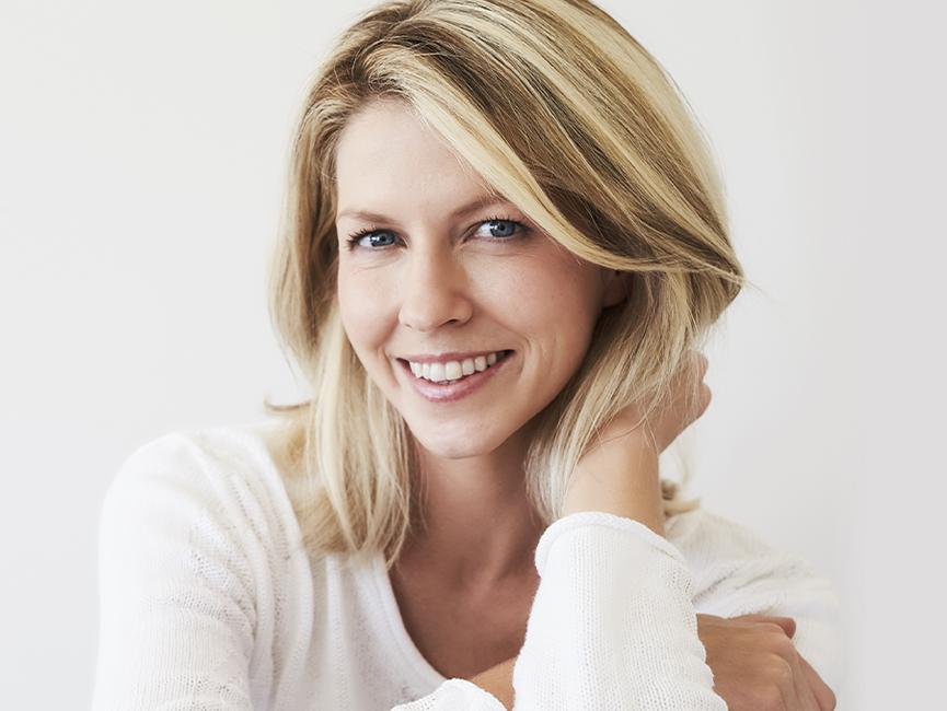 model posing smiling