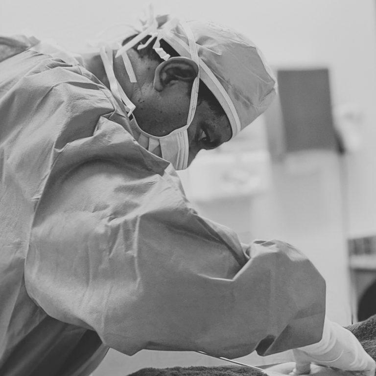 Dr. Erella Focused During Surgery