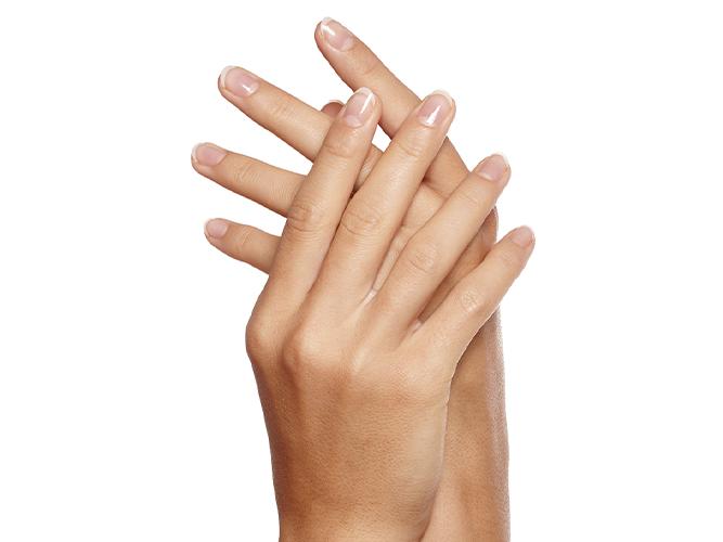 model showing hands