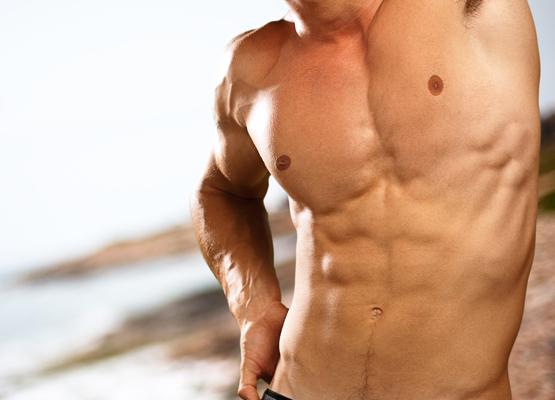 male model showing torso