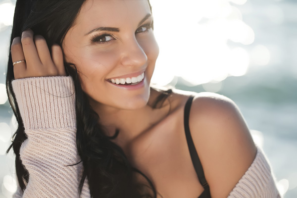 female model smiling