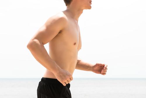 man running shirtless