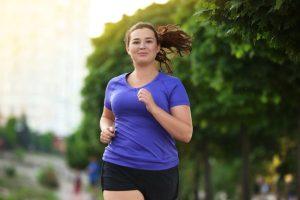 woman running exercising